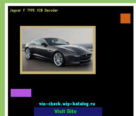 Jaguar F Type Vin Decoder