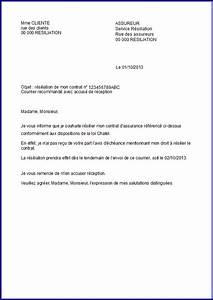 Remboursement Assurance Emprunteur Lettre Type : modele de lettre de r siliation assurance modele ~ Gottalentnigeria.com Avis de Voitures