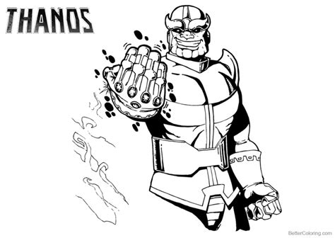 Avengers Thanos Coloring Pages Free Printable Coloring Pages