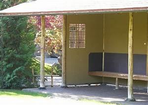 Sonnenschutz überdachte Terrasse : kleine ueberdachte terrasse japanischer garten ~ Sanjose-hotels-ca.com Haus und Dekorationen