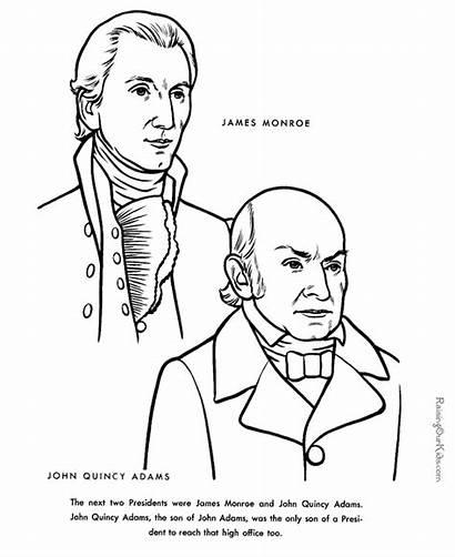 Adams Monroe John Quincy James Coloring Facts