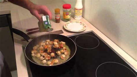 préparer des coquilles jacques à la crème cuisiner