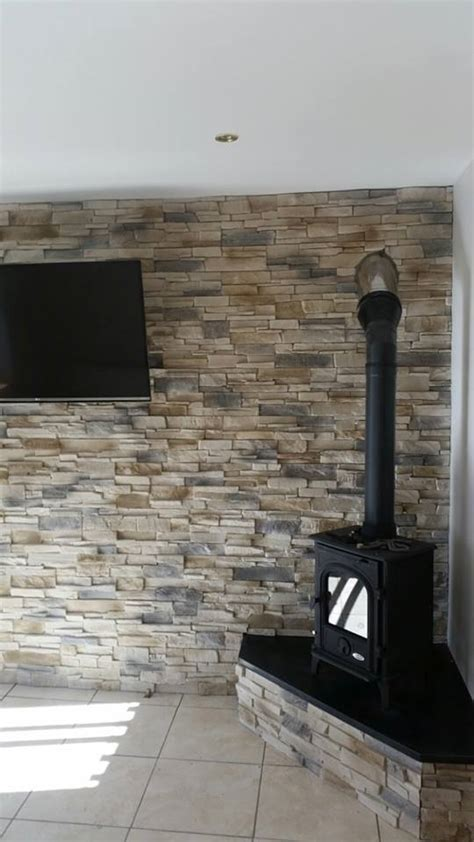 Grenada Frost   Fake Stone Cladding Tiles  Outdoor/Indoor