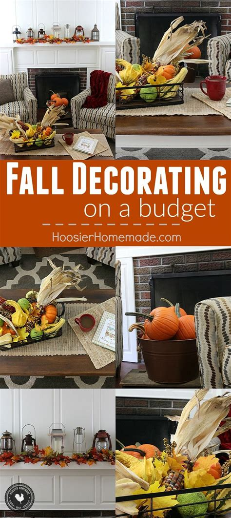 inexpensive fall decorating ideas fall decorating on a budget decorating on a budget