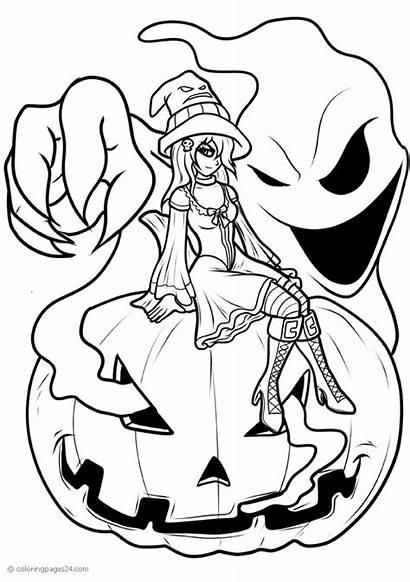 Halloween Witch Pumpkin Sitting