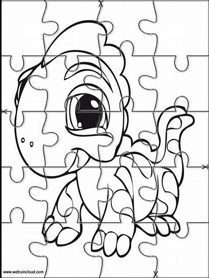 Printable Littlest Pet Coloring Cut Agere Activities