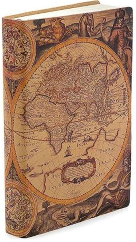 barnes and noble journals antique map printed italian leather journal 6 x 8