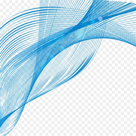Abstract Shapes Curve by Line Blue Curve Shape Blue Wavy Line Curve Png