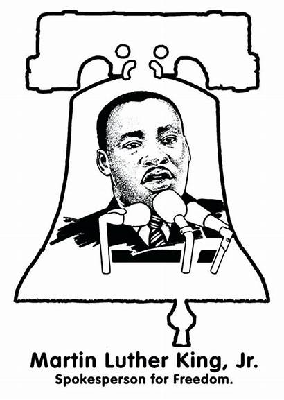 Luther Martin King Coloring Pages Jr Printable