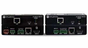 Atlona 4k  Uhd Hdmi Over 100m Hdbaset Tx  Rx With Ethernet  Control And Poe