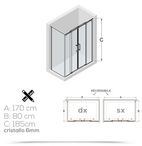 box doccia parete fissa box doccia 80x170 cm con parete fissa e profili in