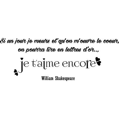 cuisine design allemande sticker citation je t 39 aime encore william shakespeare