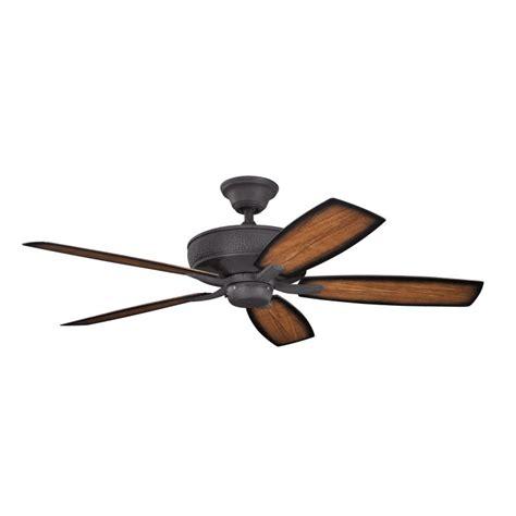 52 inch outdoor ceiling fan kichler 310103dbk monarch ii patio distressed black finish