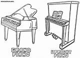 Piano Coloring Pages Results sketch template