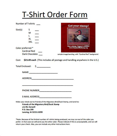 Tshirt Wording Template by 26 T Shirt Order Form Templates Pdf Doc Free