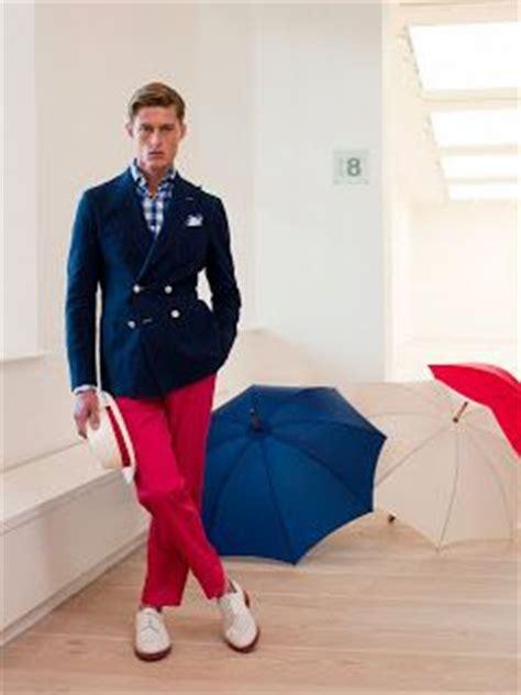 yacht blazers  men red trousers   navy blazer