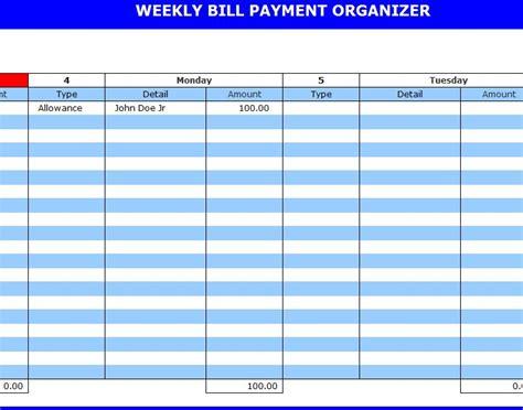 bill payment organizer payment organizer