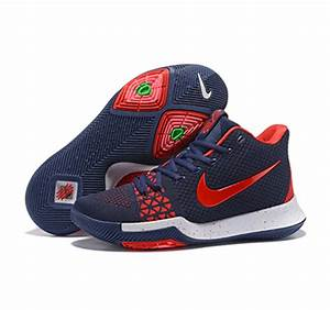 2017 Nike Kyrie Irving Basketball Shoes 3 weaving red   Sale