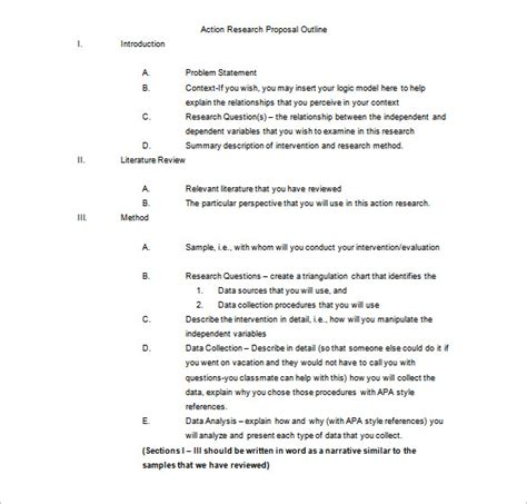 Research Paper Template Project Outline Template 10 Free Word Excel Pdf