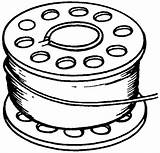Drawing Thread Needle Spool Bobbin Clipart Sketch Template sketch template