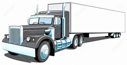 Semi Truck Drawing Outline Vector Illustration Clipart