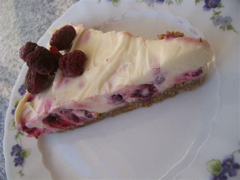 Weiße Schokolade Himbeer Cheesecake