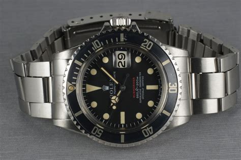 HQ Milton - 1970 Vintage Rolex Red Submariner 1680 with ...