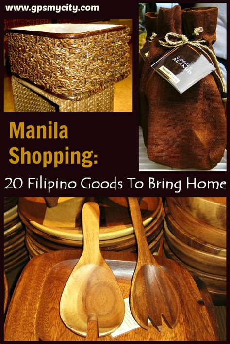 manila shopping  filipino goods  bring home