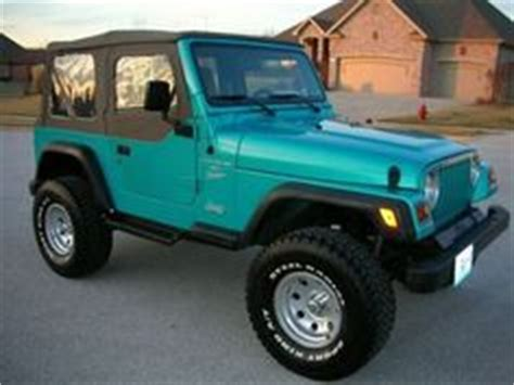 turquoise jeep cj beautiful 1994 teal wrangler i need a car pinterest