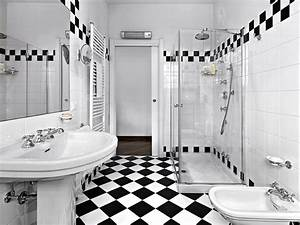 How to design a luxurious master bathroom for Black and white checkered tile bathroom