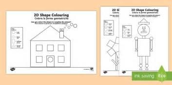 colour   shapes worksheet worksheet italian translation