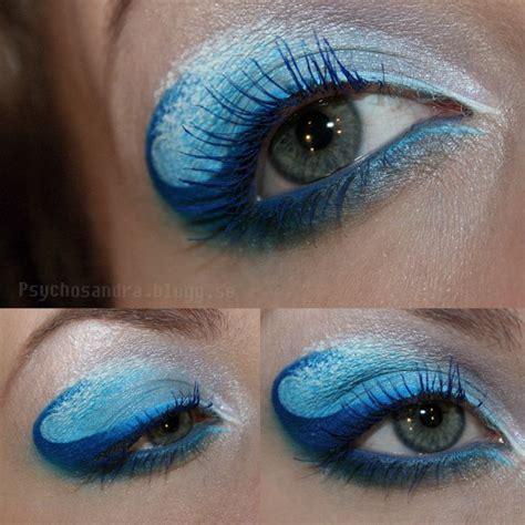 ocean waves eye makeup face paint makeup prom eye