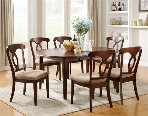 liam cherry finish  piece space saver dining room set