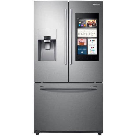 samsung door refrigerators samsung 24 2 cu ft family hub door refrigerator