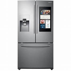 Samsung 24 2 Cu  Ft  Family Hub French Door Refrigerator