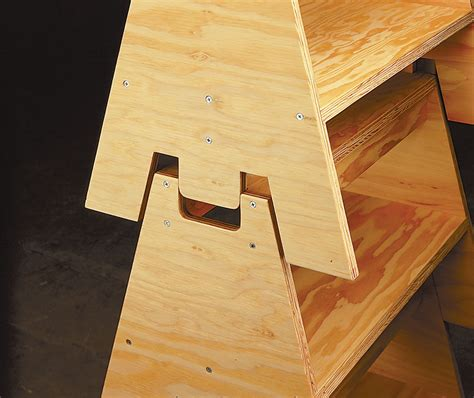 stacking sawhorses woodworking project woodsmith plans