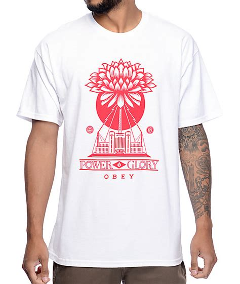 power white shirt obey green power white t shirt at zumiez pdp