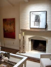painting the brick fireplace the same color as the walls