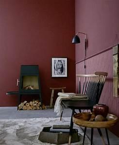 einrichten weinrot trendfarbe quotnapaquot bild 3 With balkon teppich mit bordeaux rote tapete