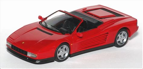 Herpa: 1984 Ferrari Testarossa Cabrio - Red in 1:43 scale ...