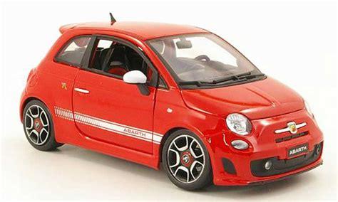 fiat  abarth red  burago diecast model car