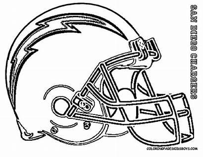 Coloring Football Pages Helmet Helmets College Nfl