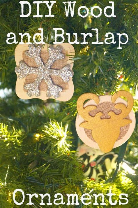 diy rustic wood  burlap christmas ornaments  house