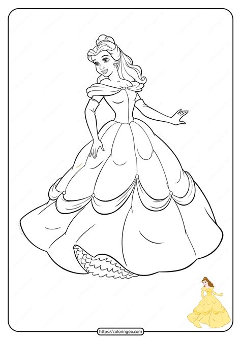 printable disney princess coloring pages