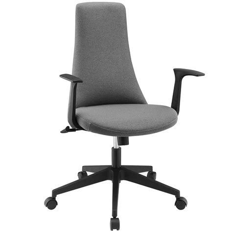 fount modern mid back upholstered office chair with
