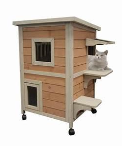 Maison Pour Chat Extérieur : niche pour chat et enclos chatterie animaloo ~ Premium-room.com Idées de Décoration
