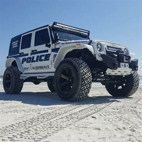 police jeep wrangler police jeep customized and donated to the ft lauderdale