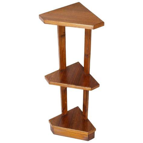modern corner shelf mid century modern deco oak corner shelves etagere
