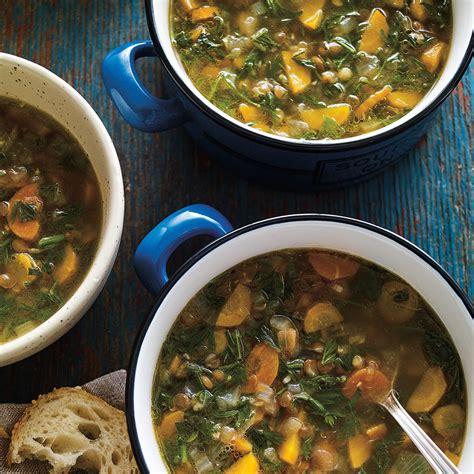 soupe aux lentilles et aux fanes de carottes ricardo