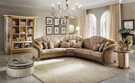 Corner Sofa, Classic Style, Texture Of Fine Wood, Fabric
